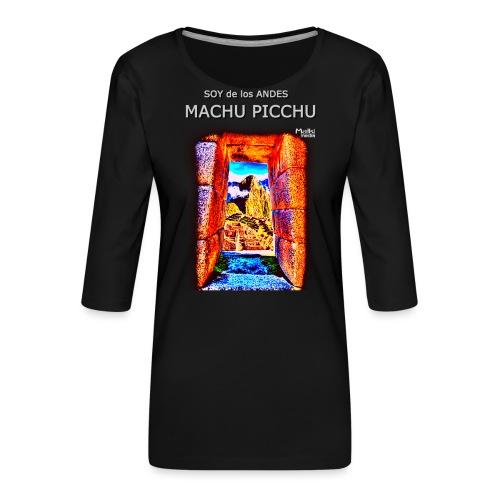SOJA de los ANDES - Machu Picchu I. - Frauen Premium 3/4-Arm Shirt