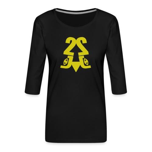 2J_GOLD - Dame Premium shirt med 3/4-ærmer