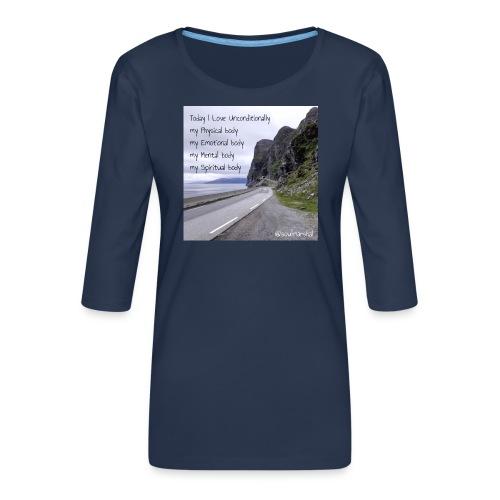 My bodys - Naisten premium 3/4-hihainen paita