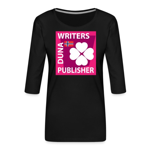 Duna Writers Publisher Pink - Premium T-skjorte med 3/4 erme for kvinner