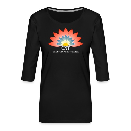 Support Renewable Energy with CNT to live green! - Women's Premium 3/4-Sleeve T-Shirt