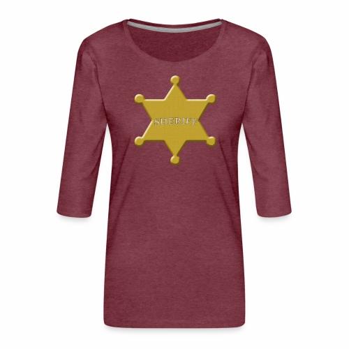 scheriff - Frauen Premium 3/4-Arm Shirt