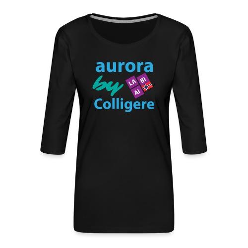 Aurora by Colligere - Premium T-skjorte med 3/4 erme for kvinner