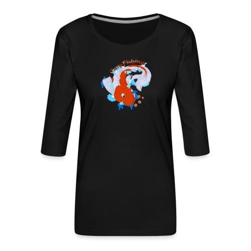 Carpa Koi - Carp Fishing - Maglietta da donna premium con manica a 3/4