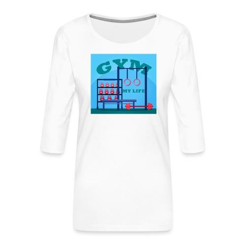 GYM - Naisten premium 3/4-hihainen paita