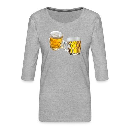Boccali di birra - Maglietta da donna premium con manica a 3/4