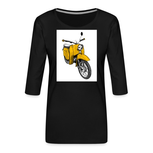 Die Schwalbenfahrer-Tasse (gelb) - Frauen Premium 3/4-Arm Shirt