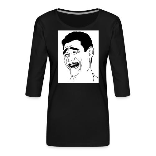 Yao Ming Face Bitch Please - Koszulka damska Premium z rękawem 3/4