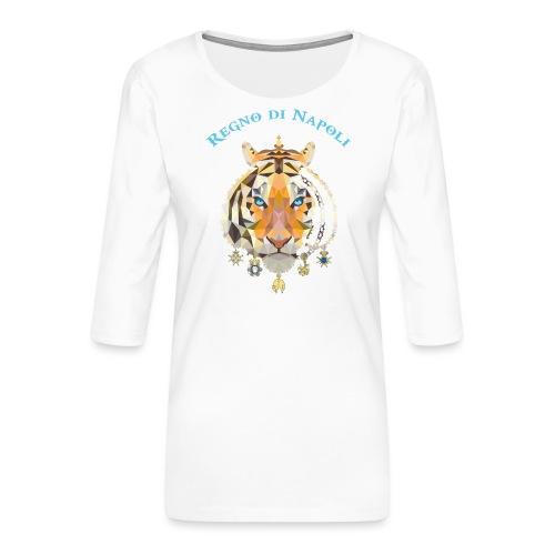 regno di napoli tigre - Maglietta da donna premium con manica a 3/4