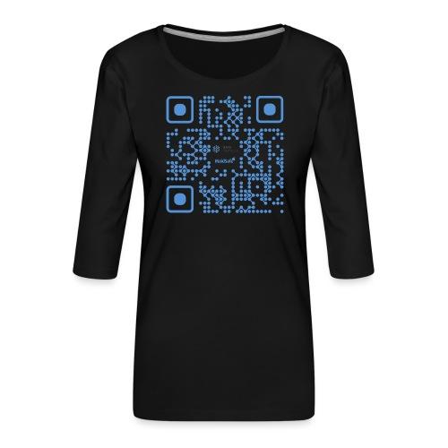 QR Maidsafe.net - Women's Premium 3/4-Sleeve T-Shirt