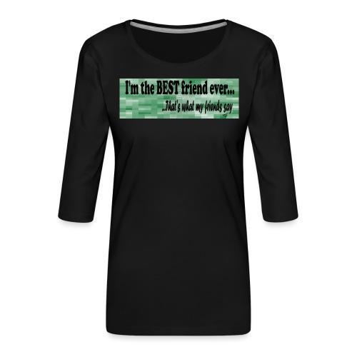 MOOD PHRASES - Camiseta premium de manga 3/4 para mujer