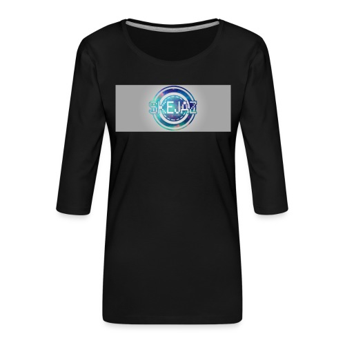LOGO WITH BACKGROUND - Women's Premium 3/4-Sleeve T-Shirt