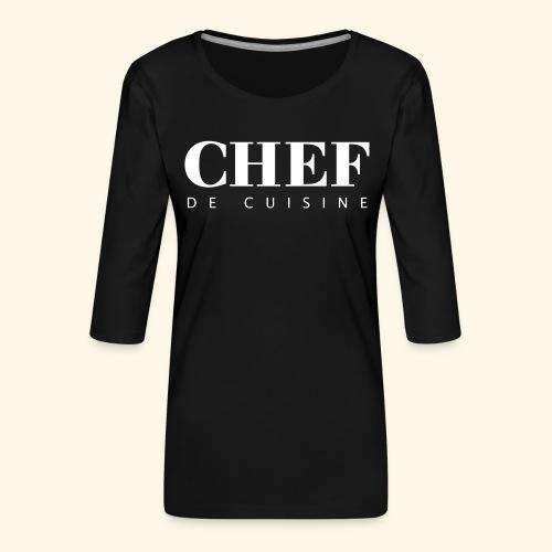 BOSS de cuisine - logotype - Women's Premium 3/4-Sleeve T-Shirt