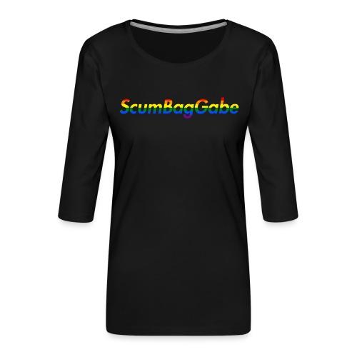 ScumBagGabe Multi Logo XL - Women's Premium 3/4-Sleeve T-Shirt