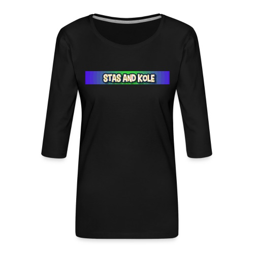 Shirt Logo - Women's Premium 3/4-Sleeve T-Shirt