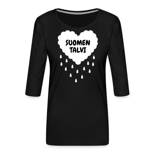 Suomen talvi - Naisten premium 3/4-hihainen paita