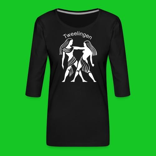 Tweelingen - Vrouwen premium shirt 3/4-mouw