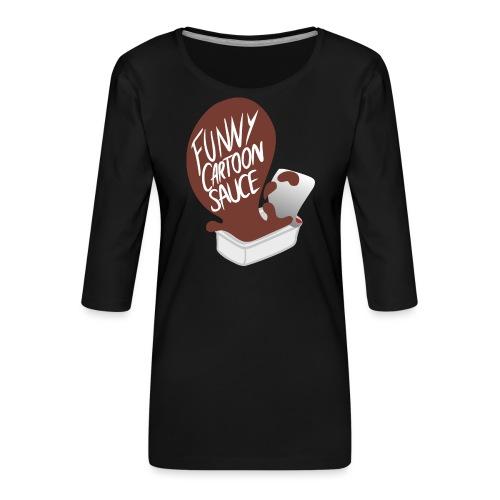 FUNNY CARTOON SAUCE - FEMALE - Women's Premium 3/4-Sleeve T-Shirt