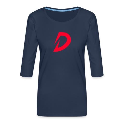 Destra Logo by Atelier render red - Vrouwen premium shirt 3/4-mouw