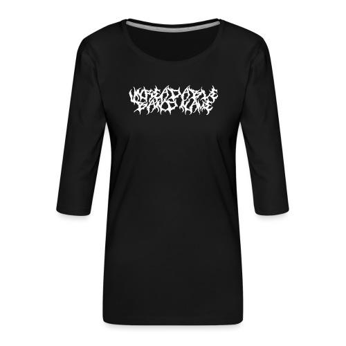 UNREADABLE BAND NAME - Women's Premium 3/4-Sleeve T-Shirt