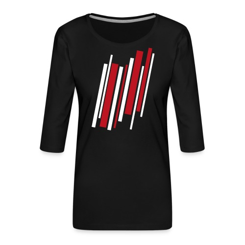 Red-White-Lines - Frauen Premium 3/4-Arm Shirt