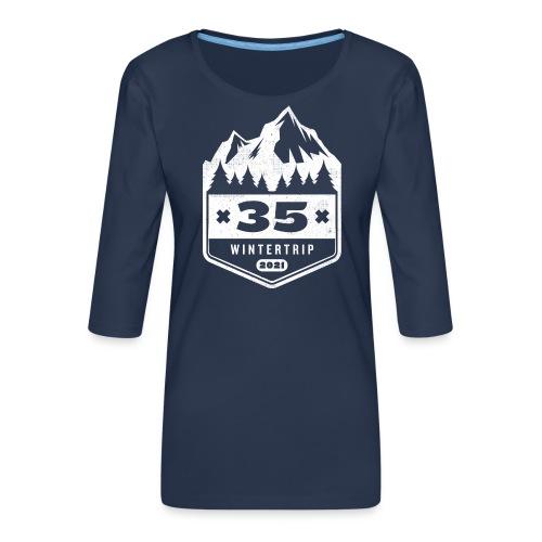 35 ✕ WINTERTRIP ✕ 2021 - Vrouwen premium shirt 3/4-mouw