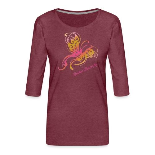 Golden butterfly - Naisten premium 3/4-hihainen paita