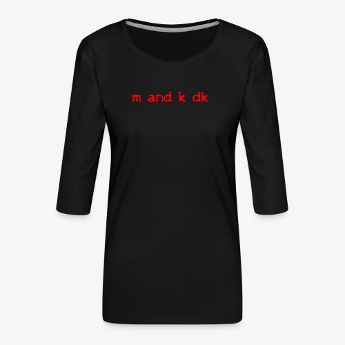 sog s1t l 1 - Dame Premium shirt med 3/4-ærmer