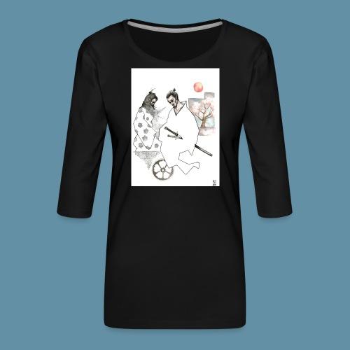 Samurai copia jpg - Maglietta da donna premium con manica a 3/4