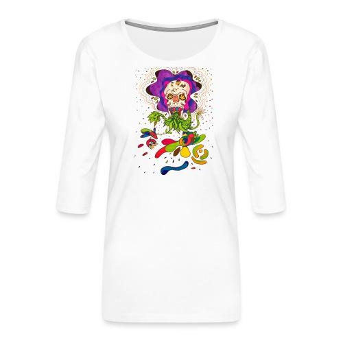 doskalle - Premium-T-shirt med 3/4-ärm dam
