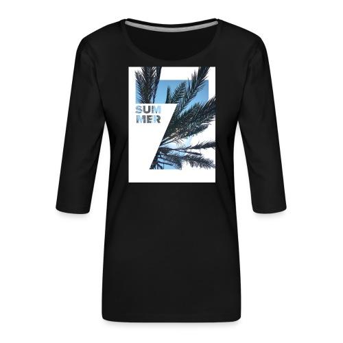 Summertime - Vrouwen premium shirt 3/4-mouw