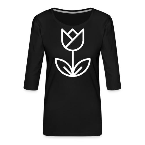 Tulip white png - Women's Premium 3/4-Sleeve T-Shirt