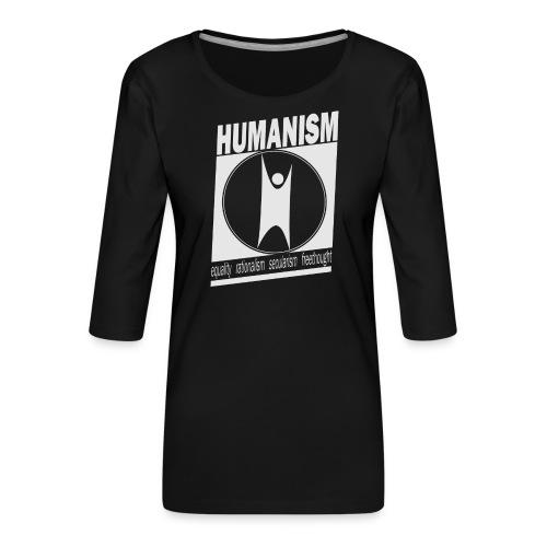 Humanism - Women's Premium 3/4-Sleeve T-Shirt