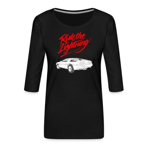 Delorean – Ride The Lightning - Frauen Premium 3/4-Arm Shirt