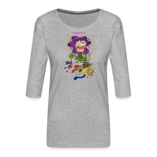 Döskalle - Premium-T-shirt med 3/4-ärm dam