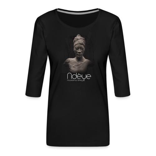 Ndèye - Camiseta premium de manga 3/4 para mujer
