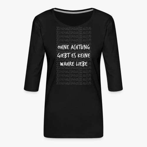 Liebe Immanuel Kant Zitat Spruch Geschenk Idee - Frauen Premium 3/4-Arm Shirt