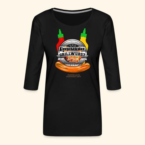 Grillen T Shirt Projektleiter Grillwurst - Frauen Premium 3/4-Arm Shirt