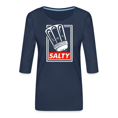 Salty white - Women's Premium 3/4-Sleeve T-Shirt
