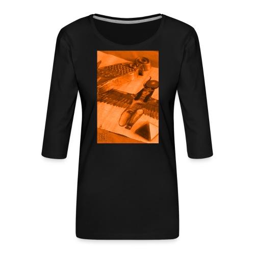Iside e Horus - Maglietta da donna premium con manica a 3/4