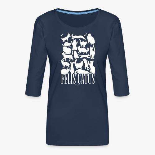 Felis Catus - Naisten premium 3/4-hihainen paita