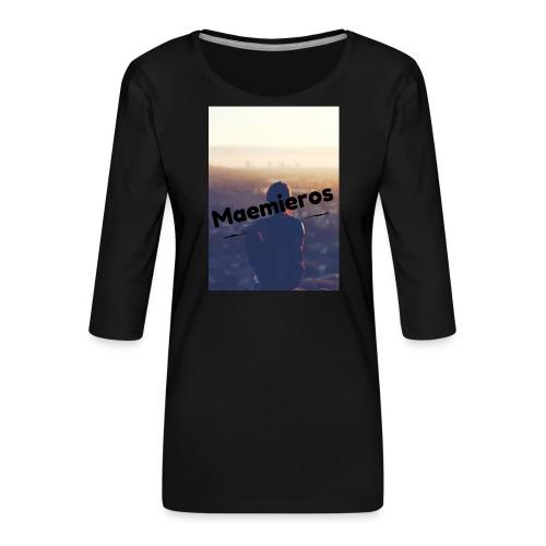 garciavlogs - Camiseta premium de manga 3/4 para mujer