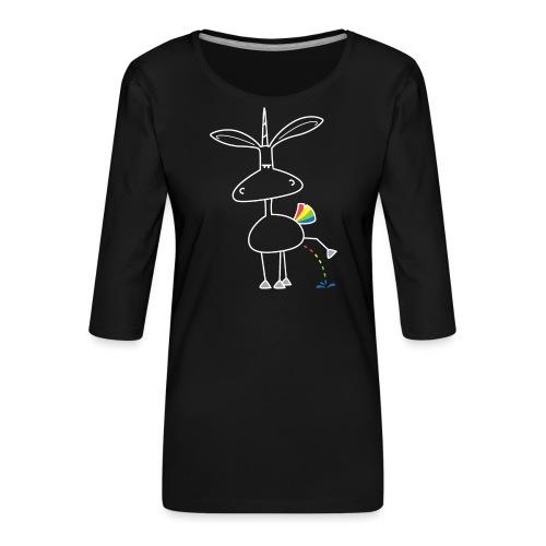 Dru - bunt pinkeln - Frauen Premium 3/4-Arm Shirt