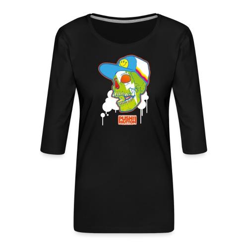 Ptb Skullhead 2 - Women's Premium 3/4-Sleeve T-Shirt