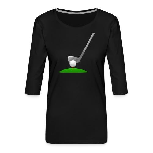 Golf Ball PNG - Camiseta premium de manga 3/4 para mujer