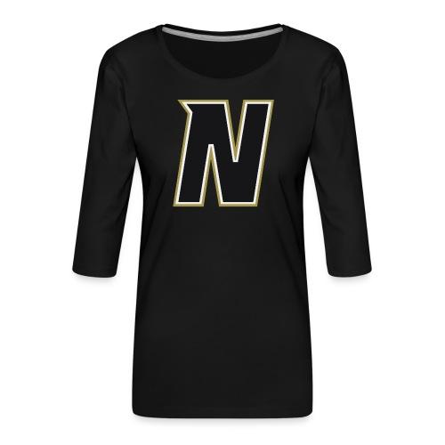 Nordic Steel Black N - Women's Premium 3/4-Sleeve T-Shirt