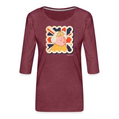 The Queen - Women's Premium 3/4-Sleeve T-Shirt