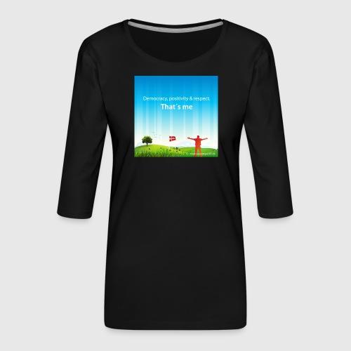 Rolling hills tshirt - Dame Premium shirt med 3/4-ærmer