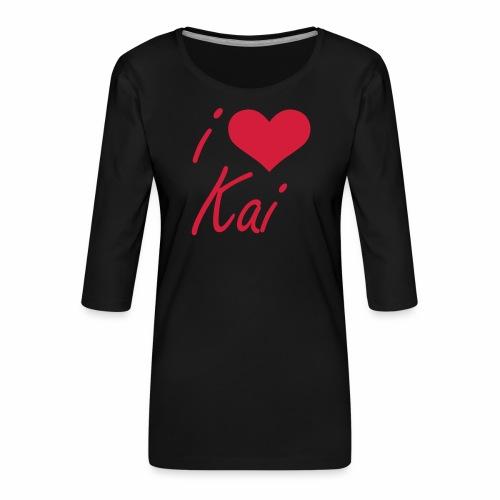 I love Kai - Frauen Premium 3/4-Arm Shirt