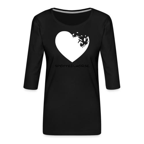 Cuore Appaloosa (bianco/rosso) - Maglietta da donna premium con manica a 3/4